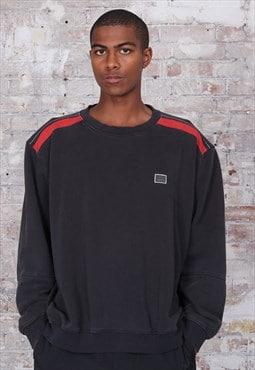 Vintage Adidas Logo Sweatshirt Black
