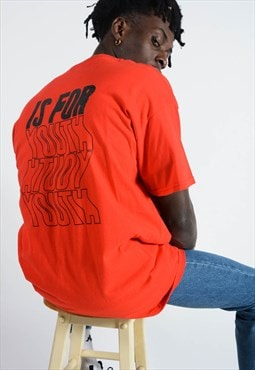 YIFY t-shirt in red with youth back print design