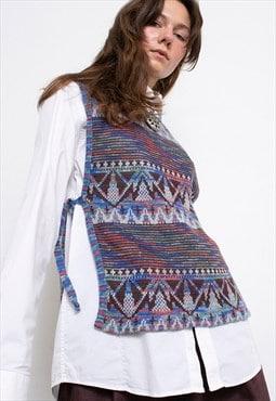 Vintage Sweater Vest Gilet Knitted 90s