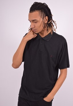 Vintage Yves Saint Laurent Polo Shirt Black
