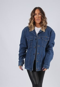 Denim Jacket  WRANGLER Lined Oversized Winter UK 18 (GK2G)