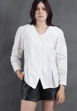 Short sleeve boho blouse from early 60s