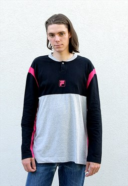 Vintage FILA  Unisex Colour Block Sweatshirt