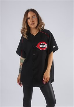 Vintage REDS Baseball Sport Jersey Oversized Top Long  (GBK)