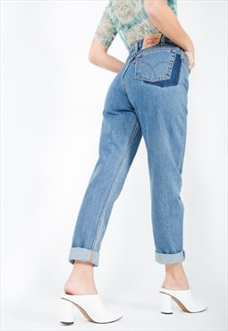 Vintage 80s Levi's Reworked Pocket Mom Jeans Mid Wash / 0217