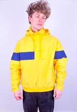 Vintage 90s Nike 1/2 Zip Pullover Jacket Yellow Large