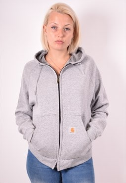 Carhartt Womens Vintage Hoodie Jacket Large Grey 90s
