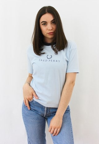 90'S RETRO BABY BLUE SPELL-OUT T-SHIRT
