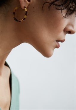 SOMA Hoop Earrings In Tortoiseshell Acetate