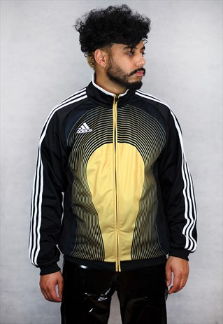 VINTAGE ADIDAS SPORTS GOLD TRACKSUIT JACKET