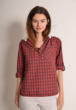 Vintage 90s Flannel Shirt in Red Check