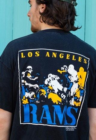 e56dda37 Vintage 80s 90s Starter Los Angeles RAMS NFL t shirt black ...
