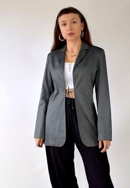 Vintage 90s-y2k Kookai metallic two tone blazer jacket