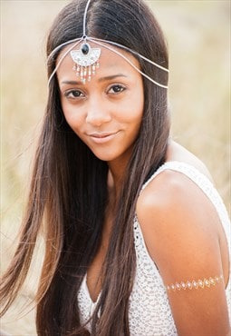 Head Chain, Hair Chain, Festival Head Piece, Boho Hair