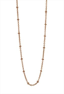 Long Ball Chain, Rose Gold