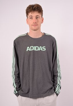 Vintage Adidas Top Long Sleeve Grey