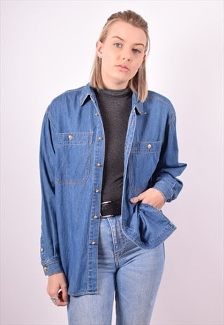 WOMENS VINTAGE DENIM SHIRT  BUE 90S