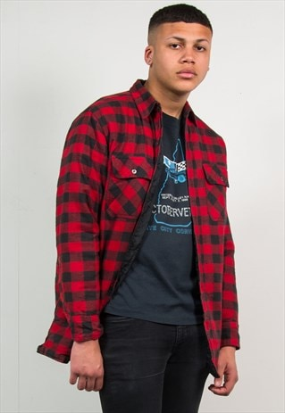 90'S QUILTED INNER FLANNEL SHIRT