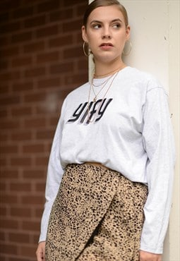 Long Sleeved YIFY Geometric tee