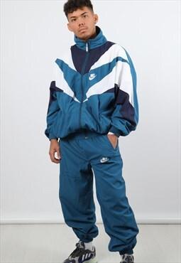 Vintage Nike XL Blue & White Full Tracksuit