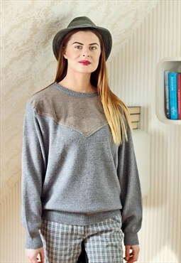 Grey vintage jumper
