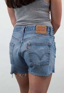 Vintage Levis Mid Blue Denim Shorts