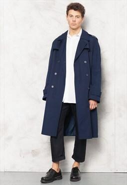 Vintage 90s Blue Duster Coat