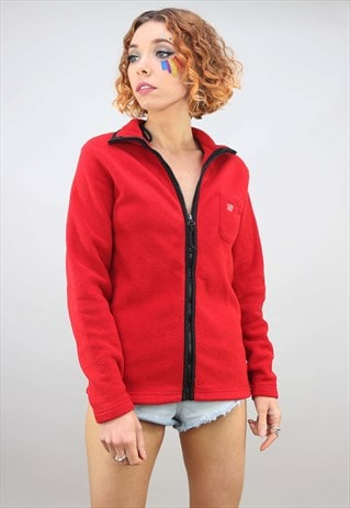 VINTAGE 90S RED ZIP UP GAP FLEECE