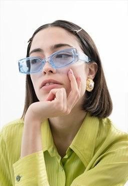 Vintage Style Rectangle Sunglasses