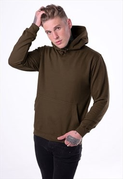 Essential Blank Pullover Hoody - Chocolate Brown