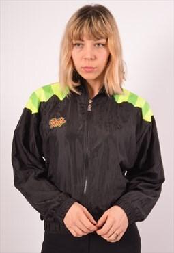 Vintage Sergio Tacchini Tracksuit Top Jacket Oversized Black