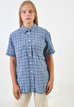 vintage short sleeve checked shirt