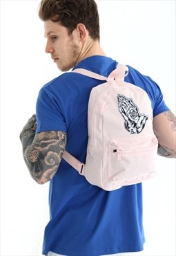 100HM Backpack Pink Mini with Woven Tattooed Hands
