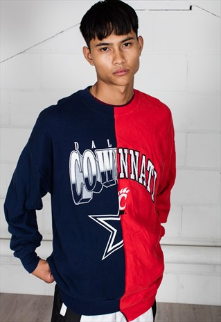 VINTAGE DALLAS COWBOYS CINCINNATI RECONSTRUCTED UNISEX SWEAT