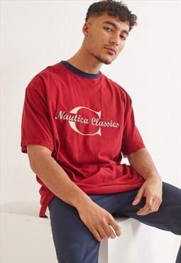 Vintage Nautica Graphic T-Shirt Red