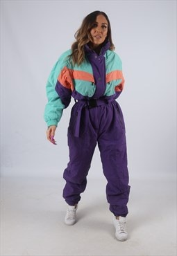 Vintage Full Ski Suit Snow Sports UK 16 XL (K4G)