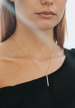 Bar Necklace 18K gold plated