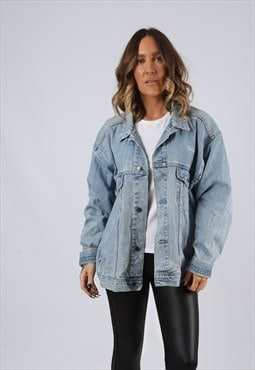 Denim Jacket Oversized Fitted Vintage UK 16  (BJ3H)