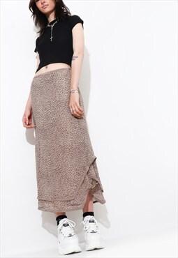 Vintage 90's FLORAL mesh MIDI skirt Y2K skirt