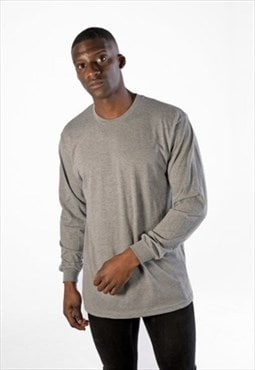 Essential Blank Long Sleeved T-Shirt - Dark Heather Grey
