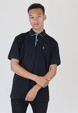 Ralph Lauren Vintage Polo Shirt Black Blue