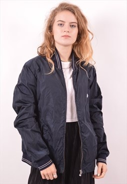 Fred Perry Womens Vintage Bomber Jacket Small Navy Blue 90s