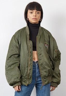 Vintage 80's Levi's khaki bomber jacket
