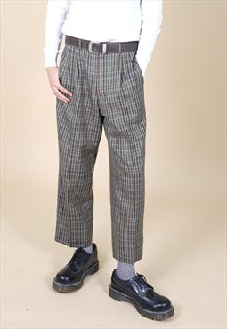 Smart Tapered Vintage Tweed Trousers