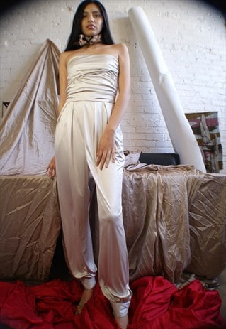 Unique Y2K Strapless Jumpsuit