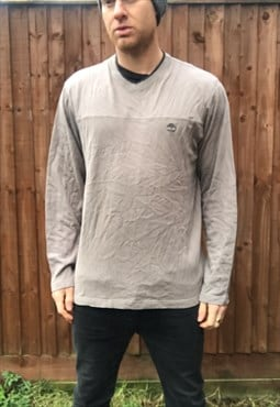vintage TIMBERLAND sweatshirt jumper LARGE grey sports 90s
