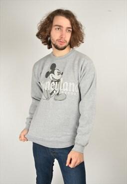 Vintage Disneyland Disney Sweatshirt in Grey