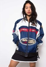 Vintage 90s Motorcycle Racing Jacket ID:1555