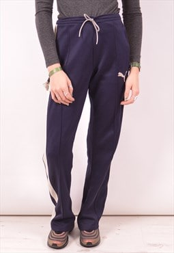 Puma Womens Vintage Tracksuit Trousers Small Navy Blue 90s