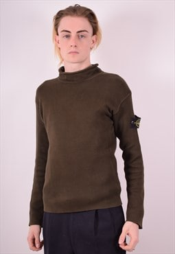 Stone Island Mens Vintage Jumper Sweater Medium Green 90s